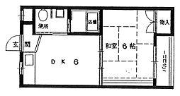 スミュー香枦園[1階]の間取り