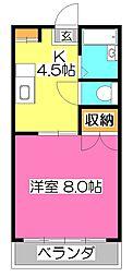東京都東久留米市前沢5丁目の賃貸アパートの間取り