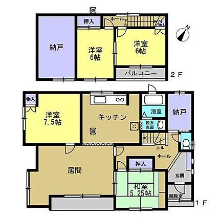 【間取図】1階...