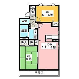 リバーサイド高田A[1階]の間取り