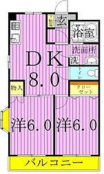 ソラリス西新井[1階]の間取り