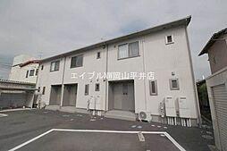 岡山県赤磐市高屋の賃貸アパートの外観