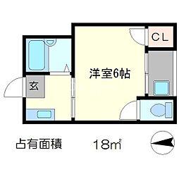佐脇天王町ハイツ[2階]の間取り