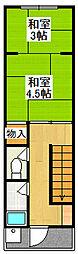 三笠町1-2 アパート[2階号室]の間取り
