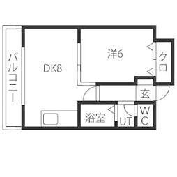 ドミローレル第8[10階]の間取り