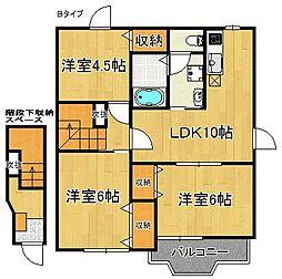みやびA・B棟[2階]の間取り