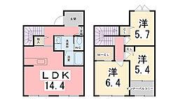 シャーメゾン姫路駅東[1号室]の間取り