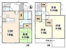 建物プラン例 建物価格 1650万円(税込)建物面積 96.38m2