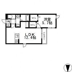 ALBION中小阪[305号室号室]の間取り