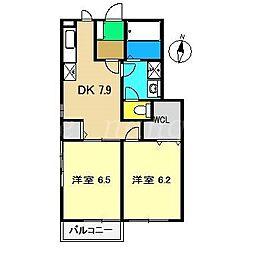 ノーザリーハウス M,K[1階]の間取り