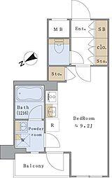 東京メトロ丸ノ内線 茗荷谷駅 徒歩5分の賃貸マンション 1階ワンルームの間取り