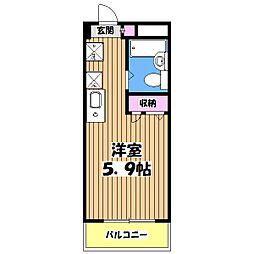 東京都八王子市台町4の賃貸マンションの間取り