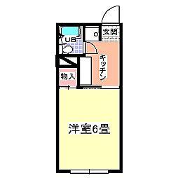ジュネスハイムA[202号室号室]の間取り