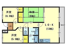 メゾンドールSK[2階]の間取り