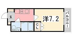 GLAハート飾磨 A棟[105号室]の間取り