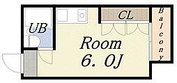ノーブルIII[6階]の間取り