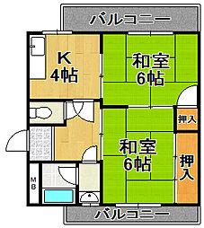 大正中三マンション[3階]の間取り