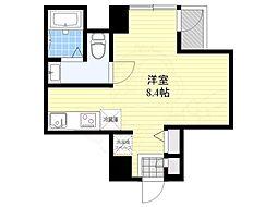 DterraceTokyo 9階ワンルームの間取り