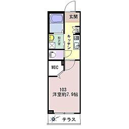 仮称)松波シャーメゾン[103号室]の間取り