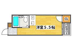 大阪府大阪市西成区岸里3丁目の賃貸マンションの間取り