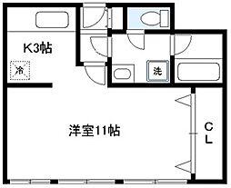 スクエア日本橋[601号室]の間取り