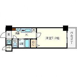 フォレステージ桜川[306号室号室]の間取り