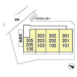 (仮)D-room飯山満町 A[305号室]の外観