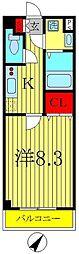 ラ・ルーナ新松戸[2階]の間取り