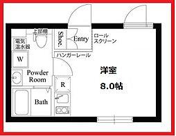 カーサピアッツァ葛飾立石 2階ワンルームの間取り