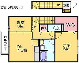 ロイヤルラビット[2階]の間取り