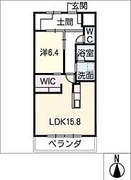 GRAN R TATSUMI 3階1LDKの間取り