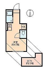 東京都大田区蒲田本町2丁目の賃貸アパートの間取り