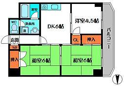フローラルコート鶴見[1階]の間取り