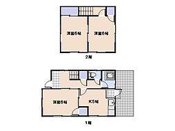 [一戸建] 広島県広島市佐伯区五日市6丁目 の賃貸【/】の間取り