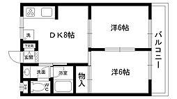 ベル・セゾン[3階]の間取り