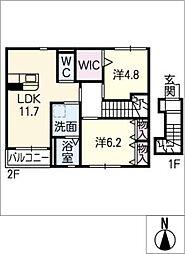 仮)鵜沼朝日町Y様新築アパート[2階]の間取り