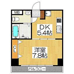 シボラ六条高倉[3階]の間取り