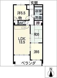 メゾン・ド・櫻[4階]の間取り