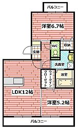 ドミールII[1階]の間取り