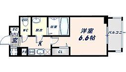 エスリード大阪CENTRAL AVENUE 2階1Kの間取り