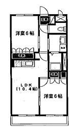 埼玉県さいたま市見沼区丸ヶ崎町の賃貸マンションの間取り