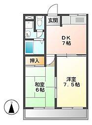 ファミール茶屋ケ坂[2階]の間取り