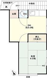 白鳥荘[2階]の間取り