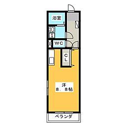 レフィナード[4階]の間取り