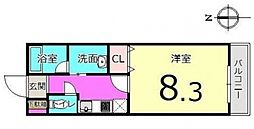 千葉県松戸市稔台8丁目の賃貸アパートの間取り