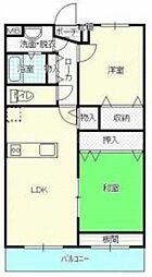 香川県高松市上林町の賃貸マンションの間取り