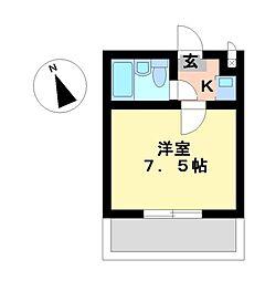 アルカディア御器所[4階]の間取り