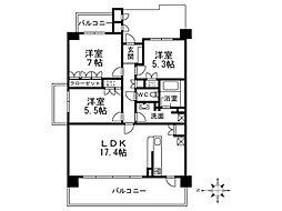 パークハウス夙川香枦園[3階]の間取り