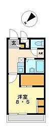 兵庫県姫路市三左衛門堀西の町の賃貸アパートの間取り