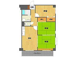 レジデンス笹原[3階]の間取り